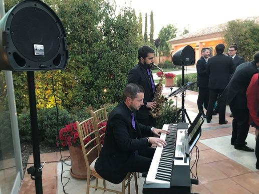 Piano y Saxo para el cóctel